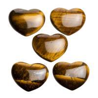 Mini Gold Tiger Eye Hearts