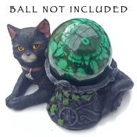 Black Cat Crystal Ball Holder