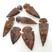 Mahogany Obsidian Arrow Heads